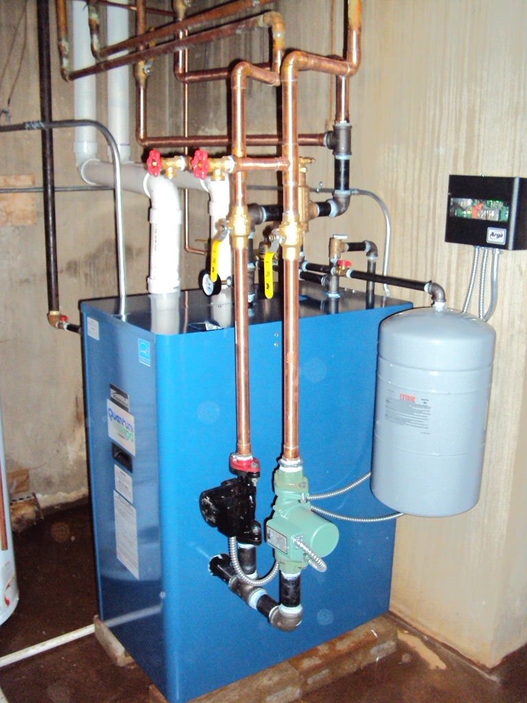 Hydronic water heater diagrams oil heater diagram for Pex hot water heating system